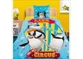 """Хлопковое постельное белье с героями мультфильма """"Мадагаскар""""."""