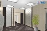 Эскиз холла на первом этаже ЖК Новое Мурино