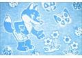 Одеяло байковое жаккардовое 100% хлопок